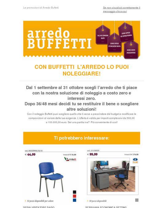 Affiliato 2 0 template email per mailchimp for Arredo buffetti